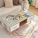 LHXFAN Nappe de Table étanche à l'huile Tissu imperméable Tapis de Table rectangulaire Bureau Salon Meuble TV Nordique-Course Libre_60 × 170 cm