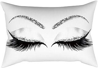Rockyin 30 x 50 cm Patrón de Cejas Cojín cómodo sofá Funda de Almohada Decoración G