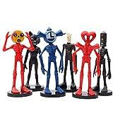 Wuawtyli Siren Head Action Figura Set,Siren Head Figura PVC de Dibujos Animados,Siren Head Model Toy...