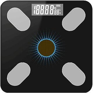 Mao Báscula de baño Digital, báscula de Peso Altamente precisa con Carga de energía Ligera, Apagado automático, 400 lbs, Negro