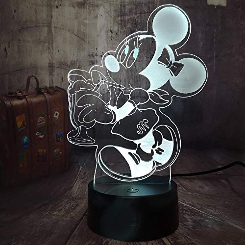 Led-nachtlampje met 7 kleuren wisselend nachtlampje Minnie Mouse schattig kinderen kinderkamer hal kleuterschool party cadeau