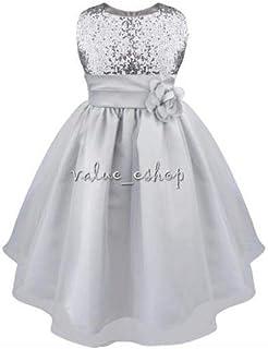 FidgetGear Flower Girl Dress Vintage Lace Princess Bridesmaid Wedding Pageant Formal Party