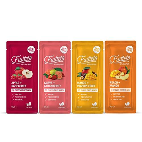 Frutteto 100% frutta, Da Congelare a Casa. Variety Pack, Senza Conservanti, Senza Coloranti, Senza Acqua Aggiunta. 100% Naturale 50g x 20 [1000 g]