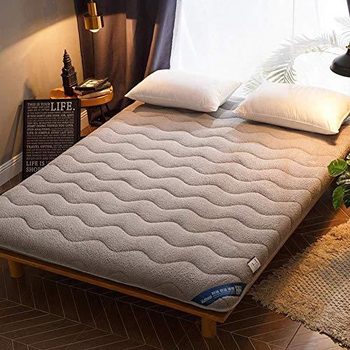 zyl Colchón de Tatami Plegable Suave tapete japonés portátil Enrollable para colchón Grueso Cojín de Dormir Doble Individual para Acampar en casa Dormitorio (Color: B Tamaño: 90x190cm (35x75 pul