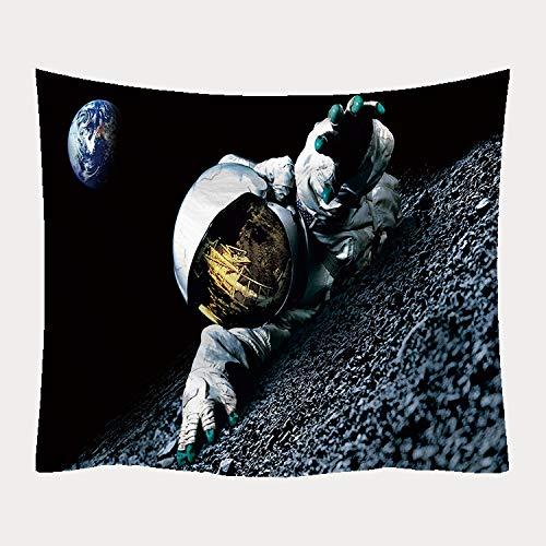 KUKUALE Tapiz Decorativo de la Manta de la Pared Tapiz de la Toalla de Playa Manta de impresión de la Serie del Astronauta, Varios tamaños