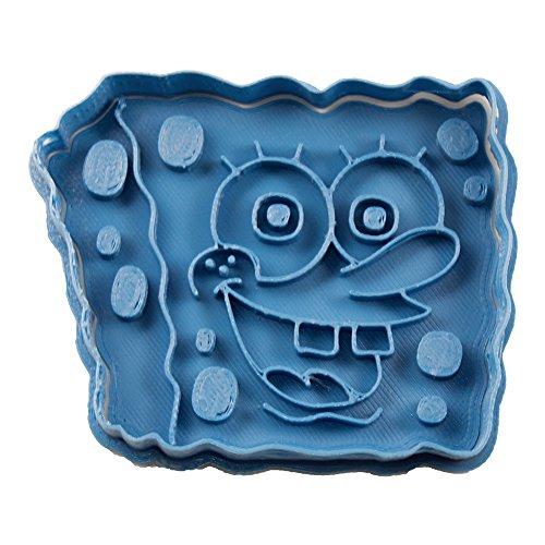 Cuticuter Spongebob Schwammkopf Ausstechform, Blau, 8x 7x 1.5cm