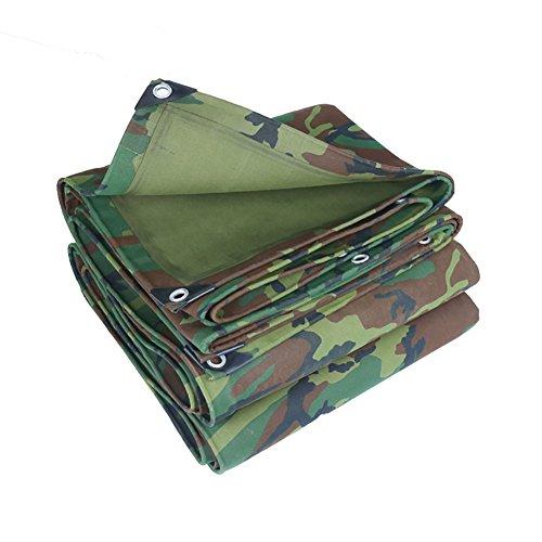 WDXJ Couverture de bâche de Camouflage Grande Tente imperméable à l'eau en Plein air imperméable Robuste Tente auvent auvent Pare-Soleil bâche de Protection bâche au Sol armée Camouflage