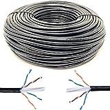 Tronic 10m Cavo di Rete Ethernet 10 Metri, Nero AWG24 CAT6 CCA Mr RJ45 | UTP