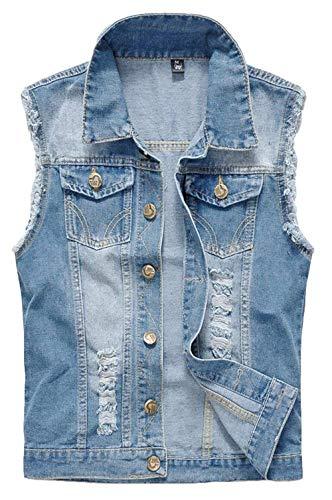 HaiDean heren klassiek denimvest jaargang jeansvest cowboyjack verrekijker jack Outerwear Modernas casual mantel