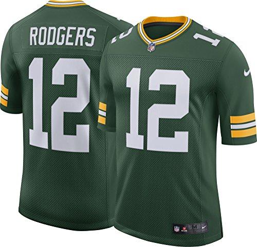 Nike GBP M NK Lmtd JSY Team CL Shirt Green Bay Packers, Herren L grün / (fir/Rodgers Aaron)