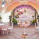 Soporte redondo para globos, soporte para columna de globos, juego de mesa de boda, fondos decorativos, DIY reutilizable, círculo de fiesta, fondo de mesa (sin globos)