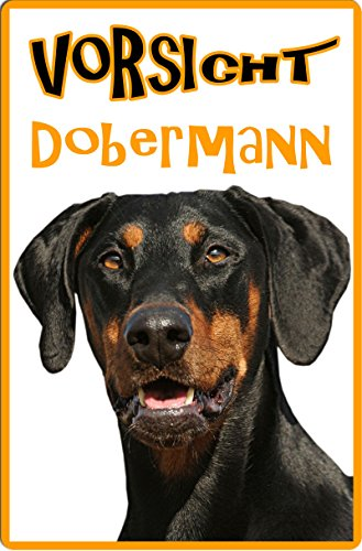 +++ DOBERMANN - Metall WARNSCHILD Schild Hundeschild Sign - DBM 18 T8
