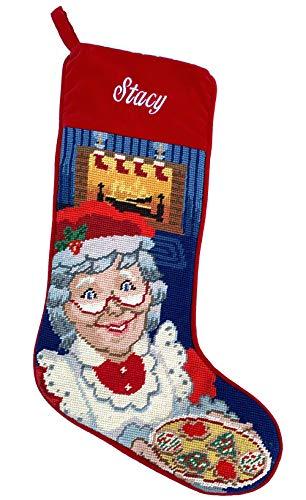 Needlepoint Christmas Stocking: Mrs. Claus