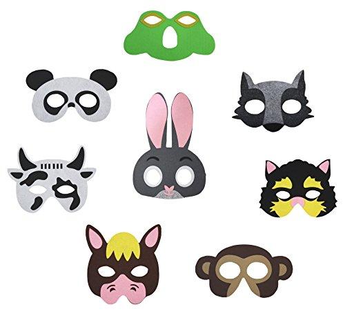 Petitebelle 8 packs Eyewear Masque Dress Up Costume de fête pour enfants 2 + partie 2 - - Taille Unique