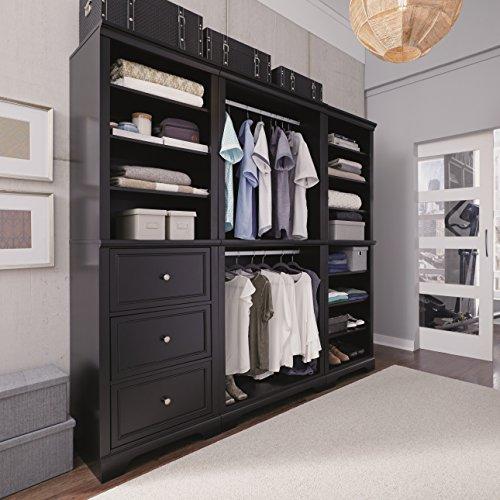 Bedford Black 3 Piece Closet/Storage System Organizer by Home Styles