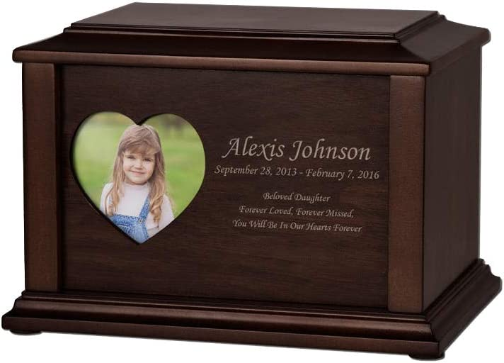 Perfect Memorials Custom Now on sale Engraved Photo Adoration Sales Crematio Small