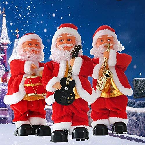 LVYI Blowing Saxophon Weihnachtsmusik Old Man Elektro-Step Weihnachtsdekoration Puppe Kinder Spielzeug