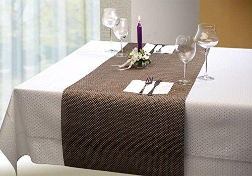 APS 60020 tafelloper - beige, 45 x 150 cm, PVC, smalle band