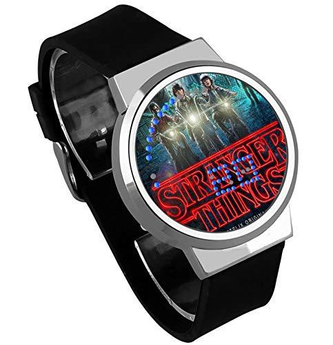 Relojes De Pulsera,Reloj Led Táctil Monstruo Cosas Extrañas Personalidad Periférica Moda Reloj con Calendario Impermeable A