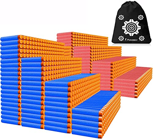 POKONBOY Compatible with Nerf Darts Bullets - 1200 Pack Refill Bullet...