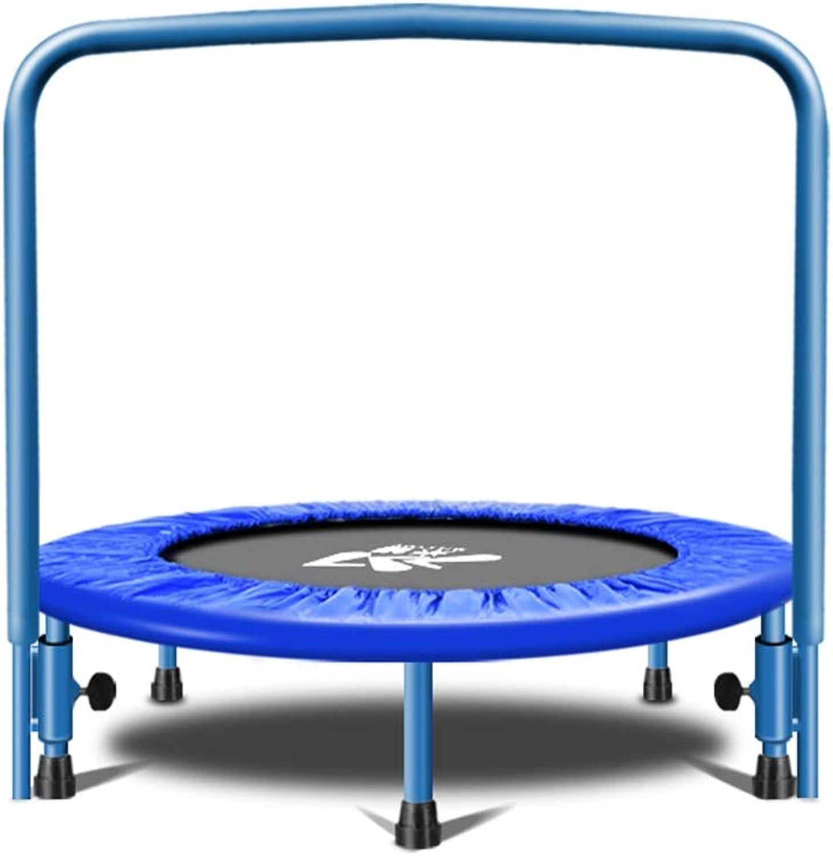 las mejores marcas venden barato YSDHE-Trampoline para Niños (Azul), Gimnasio para para para Adultos, Cama elástica para Interiores, con reposabrazos, Niños Que rebotan en la Cama  primera vez respuesta