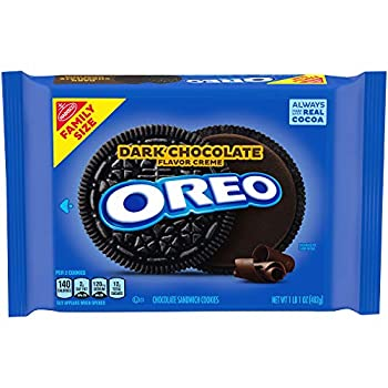 OREO Dark Chocolate Crème Chocolate Sandwich Cookies 1- 17 oz Family Size Packages