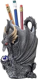 Design Toscano Escritoire The Dragon Desk Accessory Sculpture, Full Color