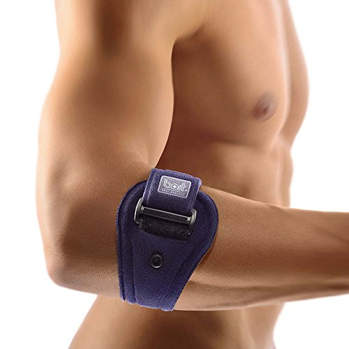 Bort EpiContur® Epicondylitis Spange 2 Pelotten Tennisarm Spange Bandage, blau, Gr. 1