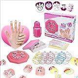 Nail Boutique - Kit de 18 piezas de uñas con prensa...