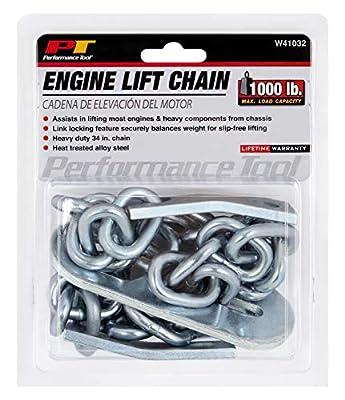 "Performance Tool W41032 1/2 Ton (1,000 lbs.) Capacity 34"" Engine Lift Chain"