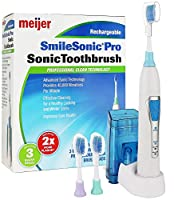 Meijer Sonic Pro Rechargeable Electric Toothbrush, 3 Brushing Modes, 2 Minute Timer by Meijer