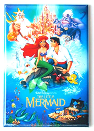 The Little Mermaid Movie Poster Fridge Magnet (2 x 3 inches)
