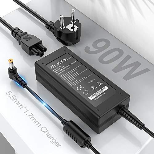 Acer AC Cargador 90W Apto para Acer Chromebook N15Q8 N15Q9 11 14 15 R11 CB3-431 C738T CB5-132T CB3-532 A13-045N2A C731 CB3-531 C740 C720 N16P1 431-C5FM Adaptador Fuente para Acer, 5.5 x 1.7 mm