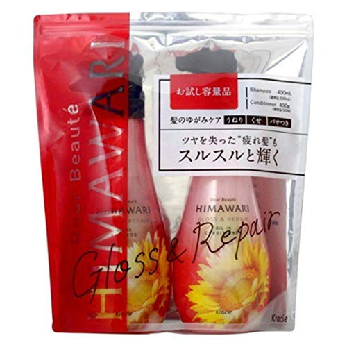 Kracie Himawari Set Gloss & Repair New Shampoo & Conditioner 400g/400ml