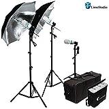 LimoStudio 600W Photography Triple Photo Umbrella Light Lighting Kit, Video, and...