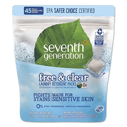 Seventh Generation Laundry Packs Free & Clear - 45ct