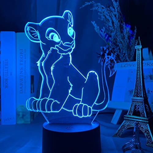 Fantasy León Rey 3D luz de noche cargador USB decoración del hogar café fiesta juguete cumpleaños Navidad niños regalo
