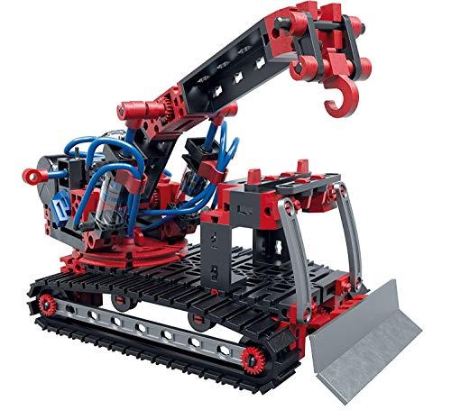 Pneumatic Power - der Pneumatik Spielzeug Bagger und 4 weitere Modelle von fischertechnik garantieren Spielspaß - Bergungsraupe, Stanzmaschine, Werksttkran und Funktionsmodell - für Kinder ab 8 Jahren