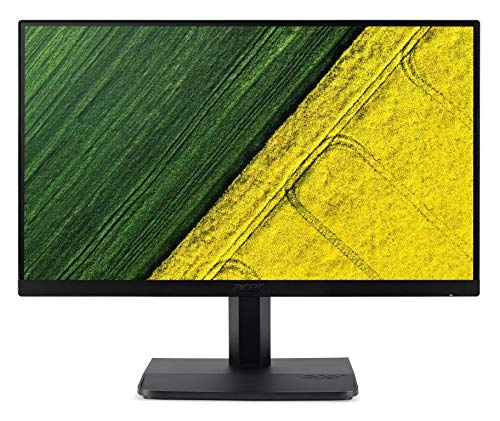 Acer 23.8-inch Full HD LED Backlit Computer Monitor with IPS Panel, VGA + HDMI Port, Stereo Speakers, Zero Frame Design - ET241Y (Black)