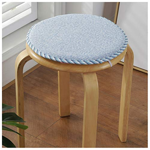 GHJL Set Of 2 Small Round Stool Cushions Chair Pads For Dining Kitchen Chairs Seat Pads With Ties For High Stool Bistro Bar Seat (Color : Color 3, Size : 40cm)