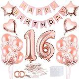 Bluelves 16 Anniversaire, 16 Anniversaire Décoration, 16 Décoration Ballon, 16 Ballon, 16e Anniversaire Décoration, 16 Anniversaire Fille, 16 Anniversaire Femme, Décoration 16 Anniversaire Femme
