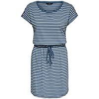 Only Onlmay Life S/s Dress Noos Vestido Casual, Blue Mirage, L para Mujer