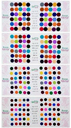 Roop Nikhar Plain Colored Big Size Bindi Combo Pack of...