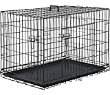 """Dog Crate Extra Large Double Door Folding Dog Cage Pet Crate W/Divider & Tray,42"""""""
