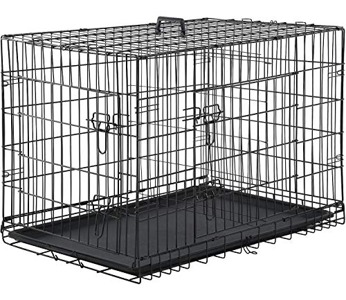 Dog Crate Extra Large Double Door Folding Dog Cage Pet Crate W/Divider & Tray,42""