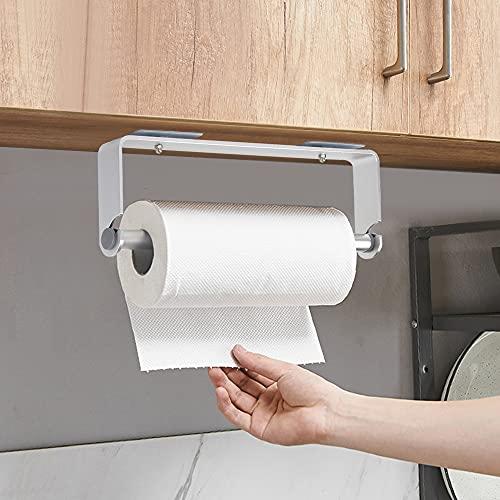 Portarrollos de Pared, Adhesivo Portarrollos de Cocina Soporte Rollo Papel Cocina - Aluminio, Sin Perforar, Astilla