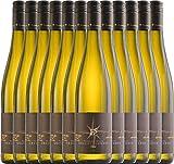 VINELLO 12er Weinpaket Weißwein - Grauburgunder trocken 2020 - Ellermann-Spiegel mit einem VINELLO.weinausgießer | trockener Weißwein | deutscher Sommerwein aus der Pfalz | 12 x 0,75 Liter