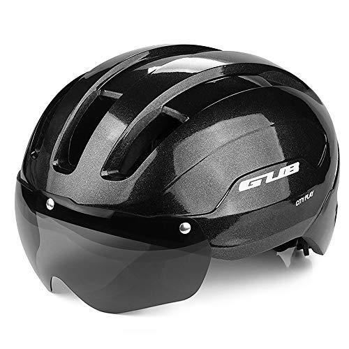 Lixada Cascos de Bicicleta Moldeados Integralmente con Gafas Magnéticas Desmontables Mountain Road...