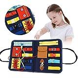 モンテッソーリ玩具必須教育感覚ボード、幼児ビジーボードは、幼児のための基本的なスキルと細かい運動スキルを開発します