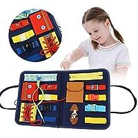 ✎ Facile da trasportare: il giocattolo è una custodia portatile per puzzle di prima educazione che è facile da trasportare e riporre, e la scheda sensoriale ispirata a Montessori può aiutare il tuo bambino a sviluppare le abilità di base. Data di con...